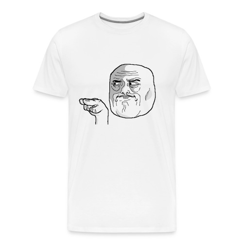 Emoticon meme I Watching You png - Mannen Premium T-shirt