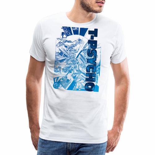 T PSYCO LIVREA BLUE - Maglietta Premium da uomo