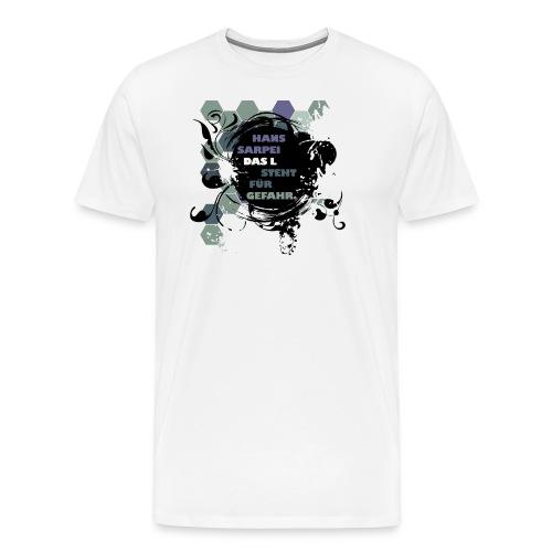 Das L Design Shirt - Männer Premium T-Shirt
