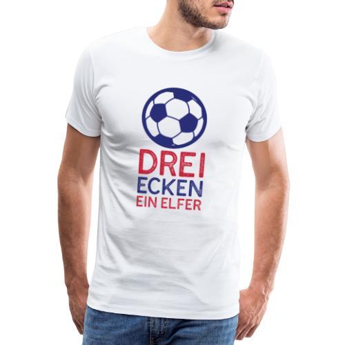 Fussball 3 Ecken ein Elfer - Männer Premium T-Shirt