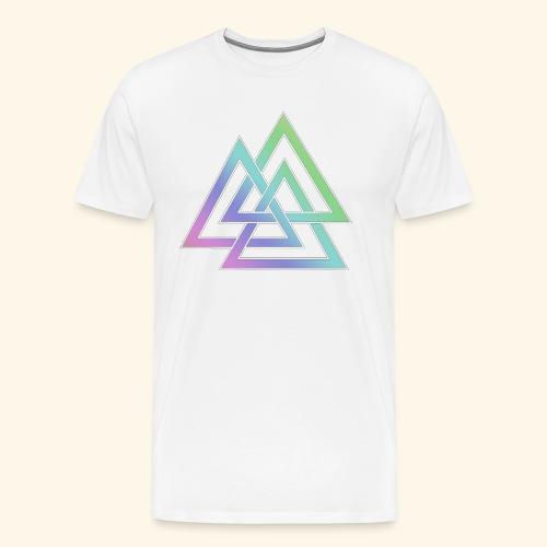 valknut 1 png - Men's Premium T-Shirt