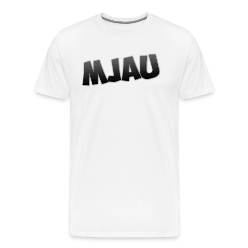 mjau png - Premium T-skjorte for menn