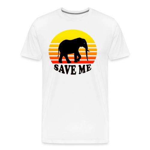 Elefant SAVE ME Schattenriss Sonne - Männer Premium T-Shirt