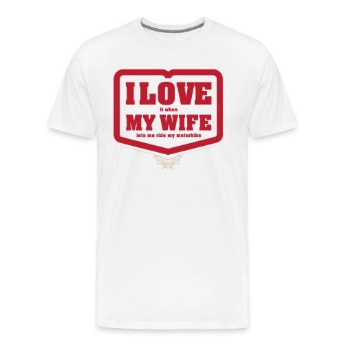 Kabes Valentine White - Men's Premium T-Shirt