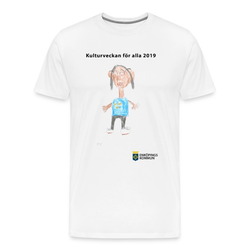 Kulturtröja 2019 vit - Premium-T-shirt herr