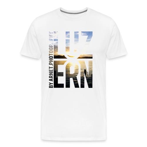 Luzern Sunset 5 - Männer Premium T-Shirt