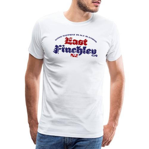East Finchley Blackletter text in colour - Men's Premium T-Shirt