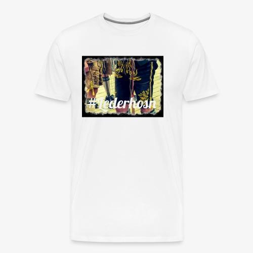 Lederhose2 - Männer Premium T-Shirt