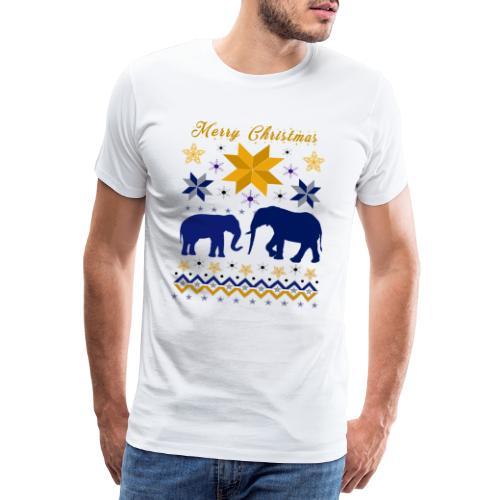 Merry Christmas I Elefanten - Männer Premium T-Shirt