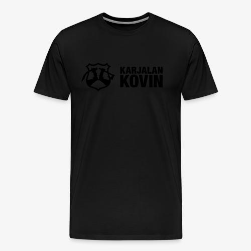 karjalan kovin logo vaaka musta - Miesten premium t-paita