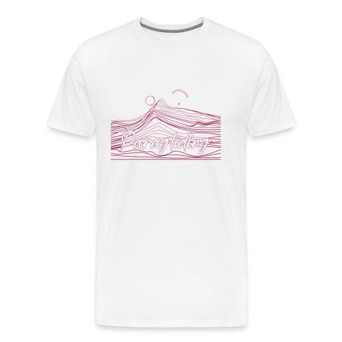 Paragling Lineart Gleitschirn - Männer Premium T-Shirt
