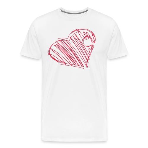Hjertepuslebit I - Premium T-skjorte for menn