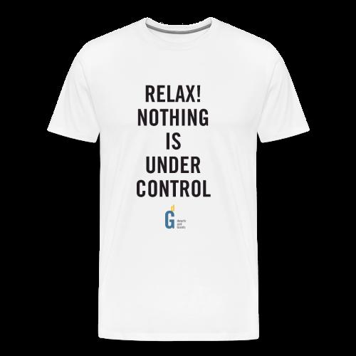 RELAX Nothing is under control III black yellow - Men's Premium T-Shirt