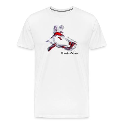 hundrot.png - Männer Premium T-Shirt