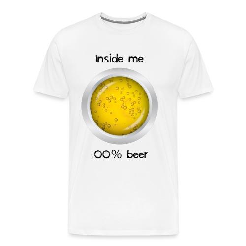 100% beer inside - Maglietta Premium da uomo