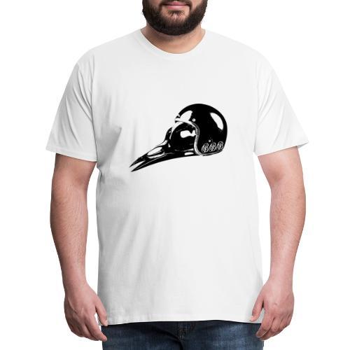 Bird Skull black - Männer Premium T-Shirt