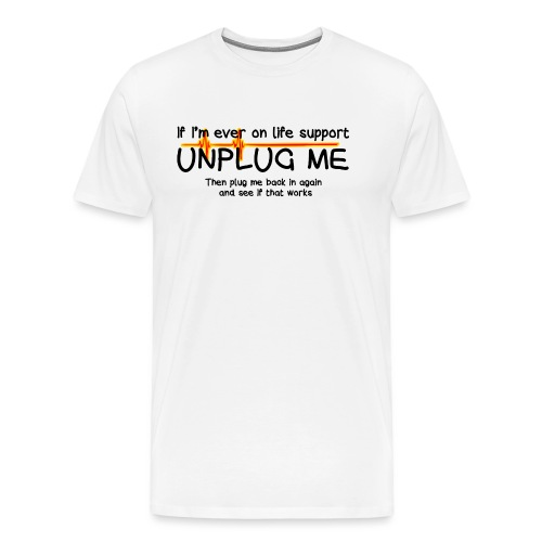 life support - helpdesk to the end - Men's Premium T-Shirt