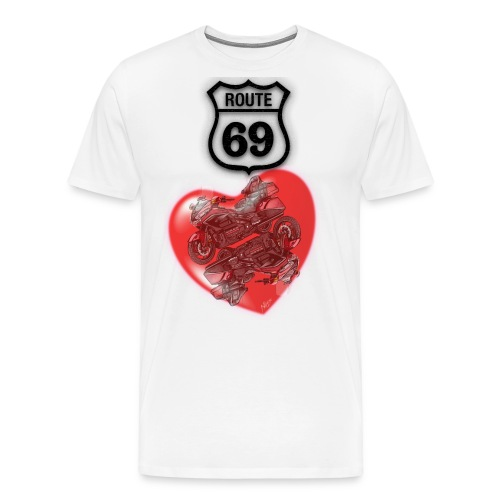 GL1800 Route 69 Tee Shirt - T-shirt Premium Homme