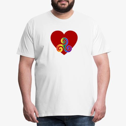 """""""BDSM mit Herz: Pride"""" – helle Textilien - Männer Premium T-Shirt"""