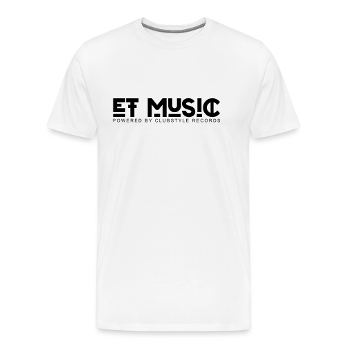 E.T. Music Logo (Powered by ClubStyle Records) - Mannen Premium T-shirt