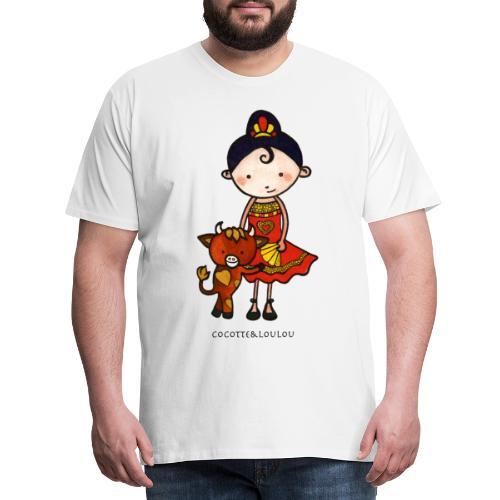 Spanie et castagnette le taurillon - T-shirt Premium Homme