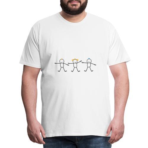 trois frère et soeur enfants (cheveux personnalisa - T-shirt Premium Homme