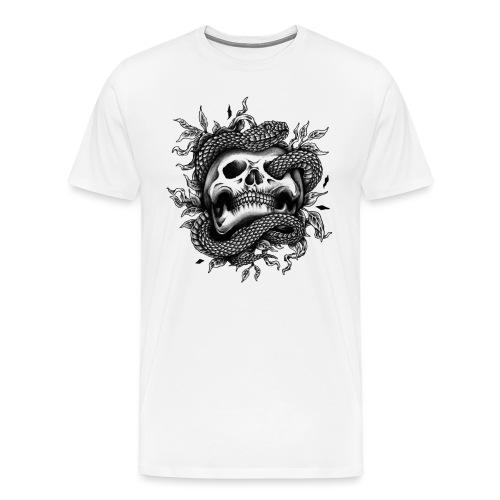 Snake Skull - Männer Premium T-Shirt