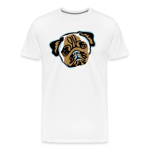 mops_vektor - Männer Premium T-Shirt