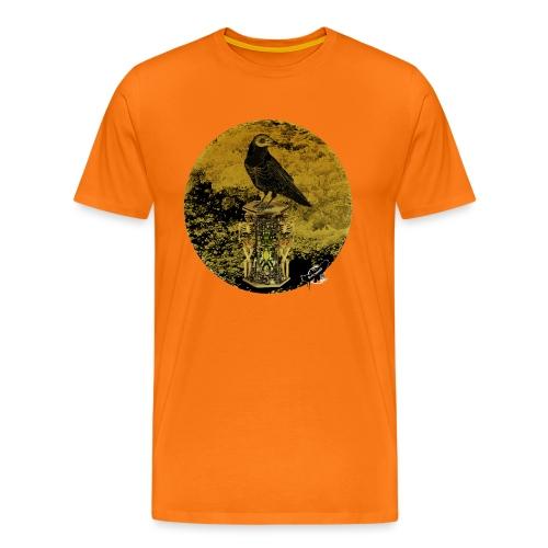 'Memento Mori', round w. logo by BlackenedMoonArts - Herre premium T-shirt