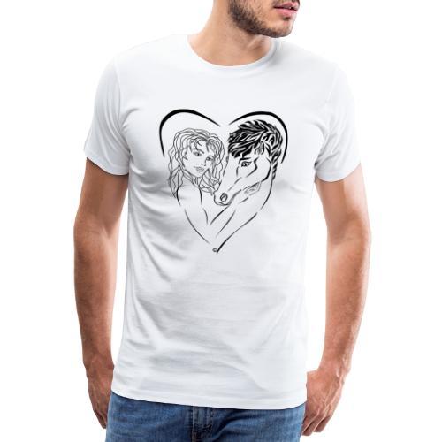 Cheval cavalière passion ❤ FC - T-shirt Premium Homme