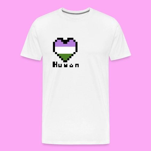Pride heart genderqueer - Miesten premium t-paita