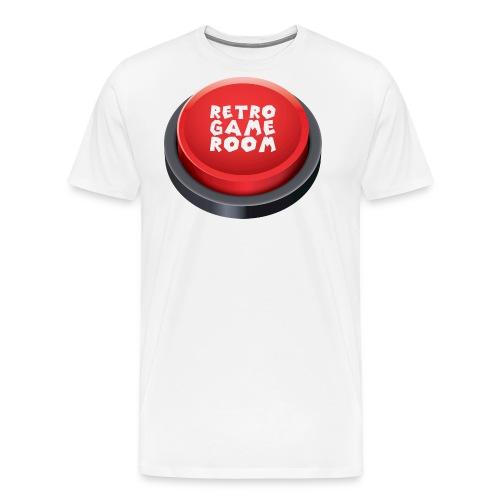 arcade button red png - Men's Premium T-Shirt