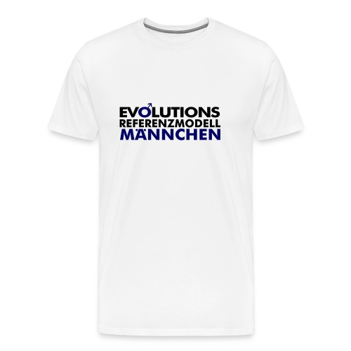 Evolutions Referenzmodell Männchen - Männer Premium T-Shirt
