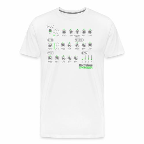 Synthesizer Drehregler Fader Electro EQ Clubbing - Männer Premium T-Shirt