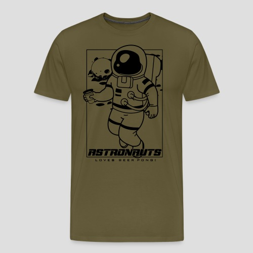 Astronauts loves Beerpong - Männer Premium T-Shirt