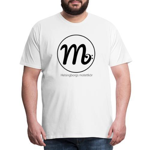 Svart logga med text - Premium-T-shirt herr