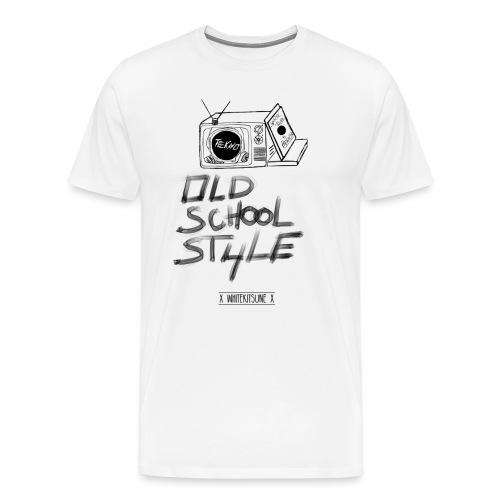 Tekno White - T-shirt Premium Homme