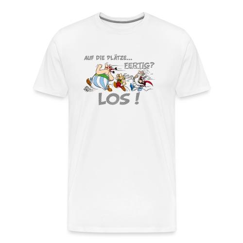 Asterix Obelix Auf die Plätze... Fertig? Los! - T-shirt Premium Homme