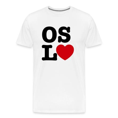 Oslove - OSL♥ - Premium T-skjorte for menn