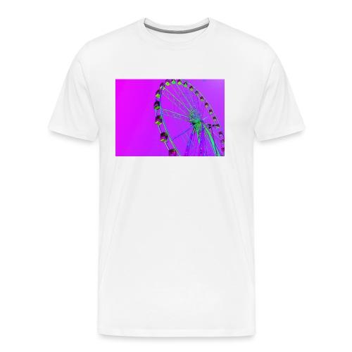 Trippy Ferris Wheel - Mannen Premium T-shirt