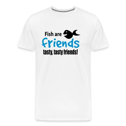 Fisk er venner - Premium T-skjorte for menn