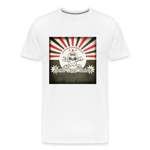 SCR Retro Sunburst Square - Men's Premium T-Shirt