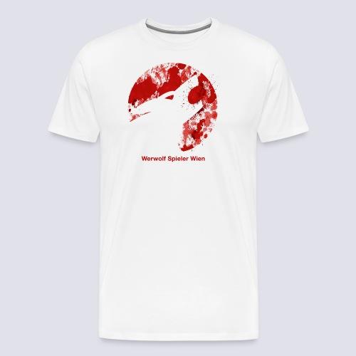 Werwolf Logo Blutspritzer - Männer Premium T-Shirt
