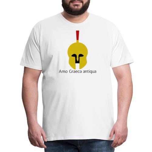 Casque Or d'un Hoplite Grec (Latin) - T-shirt Premium Homme