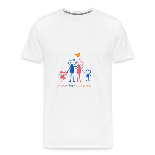 Maman Papa les enfants - T-shirt Premium Homme