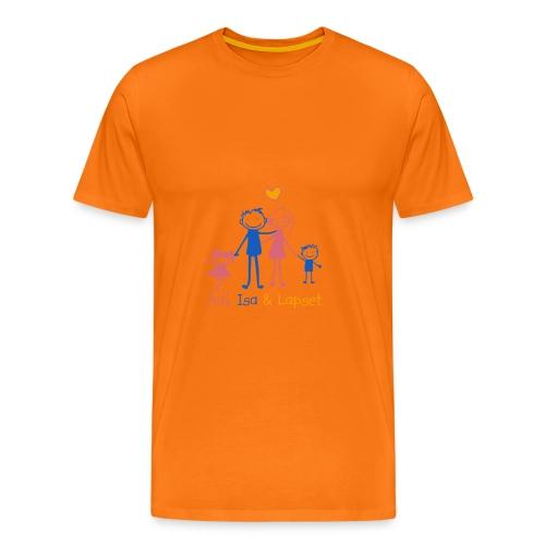 Äiti Isa Lapset - Miesten premium t-paita