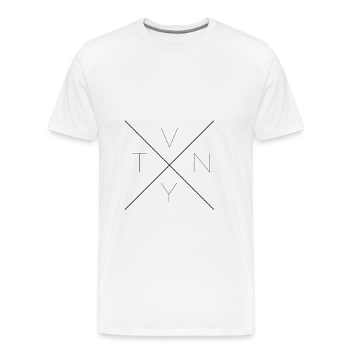 Kreuz ohne Pfeile Blvck png - Männer Premium T-Shirt