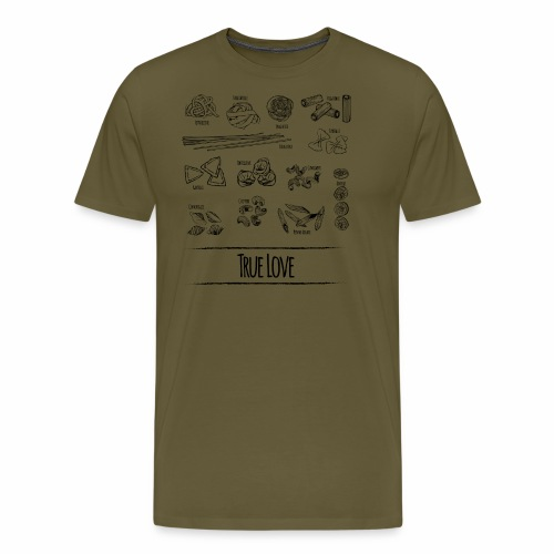 Pasta - My True Love - Männer Premium T-Shirt