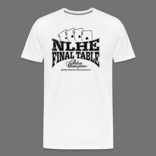 NLHE Final Table (black oldstyle) - Herre premium T-shirt