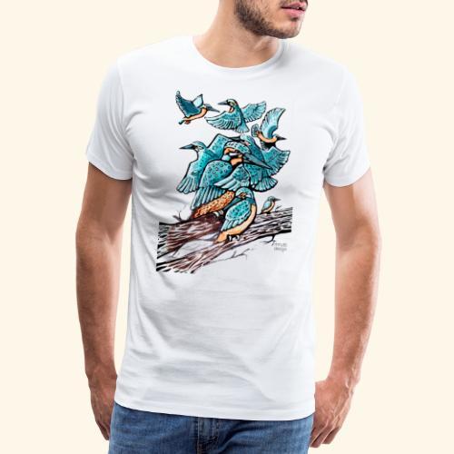 Eisvogel Rudel - Männer Premium T-Shirt